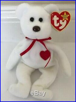 Ty Beanie Babies Valentino Bear 1993 Brown Nose RareVintageCollectable