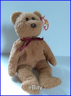 69f66f8237a Ty Beanie Baby 1996 CURLY BEAR with very rare collectible hang tag error