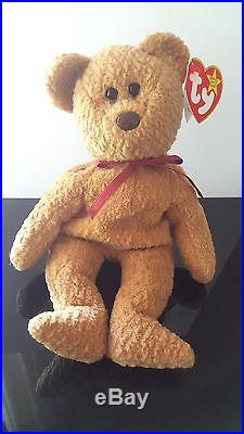 898cb648420 Ty Beanie Baby 1996 CURLY BEAR with very rare collectible hang tag error  DONATE