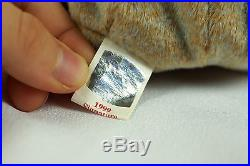 Ty Beanie Baby 1999 SIGNATURE BEAR Plush Toy RARE NEW RETIRED