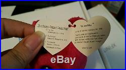 Ty Beanie Baby 99 Valentina Errors Misspelled Gasport/Un-Numbered Rare