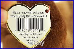 Ty Beanie Baby BONES 1994 1993 Dog with Tag ERRORS Plush Toy RARE PVC NEW RETIRED