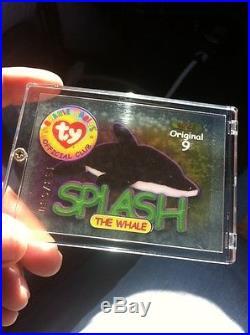 Ty Beanie Baby Babies Card ORIGINAL 9 #7 SILVER 4022 Splash Whale 680 RARE