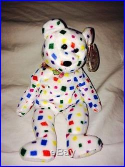 fa269d1af6c Ty Beanie Baby Bear TY 2K MWT retired 1999 RARE flat Tush Tag Errors ...