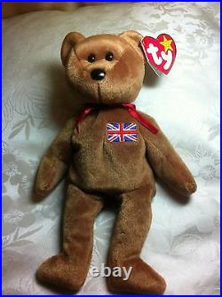 Ty Beanie Baby Britannia Royal Girl Bear 15 December 1997 UK Exclusive RARE