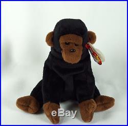 Ty Beanie Baby CONGO 1996 Gorilla with Tag ERRORS Plush Toy RARE PVC NEW RETIRED