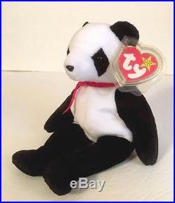 Ty Beanie Baby Fortune Panda Bear Retired 12 6 1997 Tush Errors RARE ... 1d49c65480b1