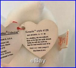 Ty Beanie Baby Gracie The Swan 1996 Rare/retired