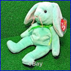 Ty Beanie Baby HIPPITY Rabbit 1996 Truly Rare REVERSED Tush Tag & MANY Errors