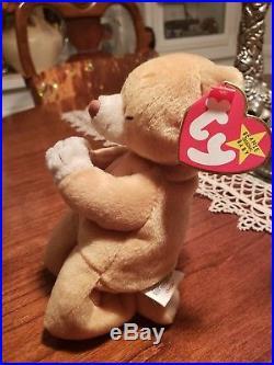 Ty Beanie Baby HOPE Praying BearTag Errors RARE