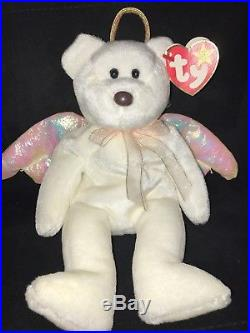 f51b8ded61a Ty Beanie Baby Halo RARE! (Bear Angel 1998) Christmas