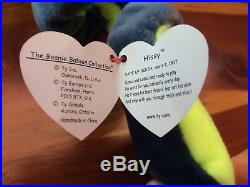 Ty Beanie Baby Hissy Snake Tag Errors RARE New 1997