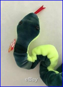 Ty Beanie Baby Hissy The Snake 1997 PVC Pellets Rare Retired Vintage