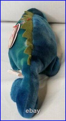 Ty Beanie Baby IGGY the Blue Iguana 1997 ULTRA RARE