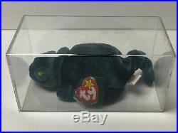 Ty Beanie Baby Iggy #4038 With Rainbow Tags Very Rare Fabric Error, No Tongue