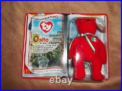 Ty Beanie Baby International Bears II Rare Osito Bear Brand New