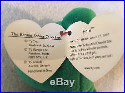 ca0d850ec09 Ty Beanie Baby Original Erin Retired