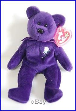 c5cd710326b Ty Beanie Baby PRINCESS Diana Bear RARE 1st EDITION! 1997 PVC Pellets! MINT