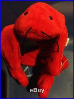 Ty Beanie Baby Pinchers The Lobster-MINT RARE PVC Pellets 1993