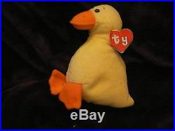 Ty Beanie Baby Quacker (RARE Wingless 2dfb971765a