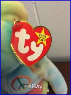 Ty Beanie Baby Rare Peace 1996 With Errors