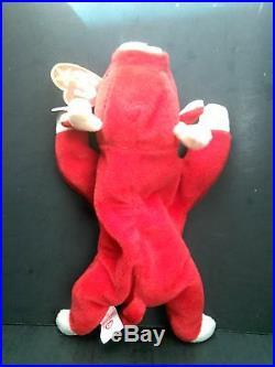 Ty Beanie Baby SNORT The Bull, Retired and VERY RARE