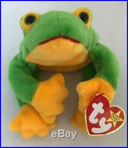 Ty Beanie Baby Smoochy The Frog #4039 RetiredRARE