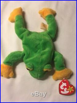 Ty Beanie Baby Smoochy The Frog (Retired 1997) Tag Errors Rare Collectible