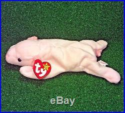 47685bf5bee Ty Beanie Baby Squealer Retired Pig 1993 Original 9 MWMT RARE PVC Backwards  Tush