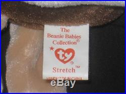 Ty Beanie Baby Stretch 1997 P. E. Pellets Rare