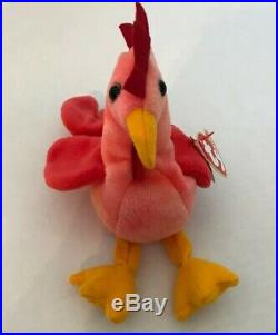 Ty Beanie Baby Strut The Rooster 1996 Retired Rare Vintage & Collectible