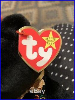 Ty Beanie Baby The End Bear with Errors RARE