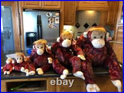 Ty Beanie Schweetheart Monkey Family RARE All With Tags (Jumbo Included)