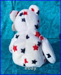 Ty Glory Beanie Baby Bear, RARE! Retired, MINT condition, errors & Canada tag