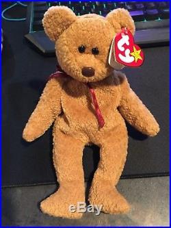 ae963f5e7ae Ty ORIGINAL Beanie Baby CURLY BEAR MINT Condition RARE Retired Tag Errors