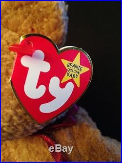 Ty beanie baby Very Rare CURLY BEAR orig. Collectible with Tag Errors