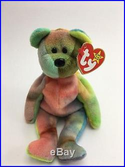 ff1602ef547 Ty beanie baby Very Rare PEACE   GARCIA BEAR orig. Collectible with Tag  Errors