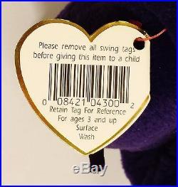 6c51d578d36 Ultra RARE TY Princess Diana 1st Edition Beanie Baby 1997 Retired MINT Tab  PVC