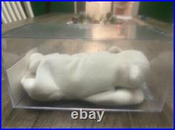 Ultra Rare Authenticated Ty Beanie Babies Chilly Polar Bear 1st/1st Gen