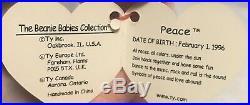 Ultra Rare Beanie Babies Lot Erin, Three Peace And Claude! 1990s Originals
