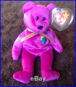 VERY RARE 4 ERRORS TY Beanie Babies MILLENNIUM Millenium Mint Limited Tag  MWMT 690f947f2bd