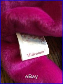 VERY RARE ERRORS TY Beanie Babies MILLENNIUM Millenium Mint Limited Tag MWMT