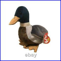 VERY RARE Jake The Duck Beanie Baby 1997 1998 Retired Tag Errors