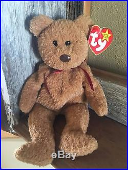 6bf6b16f003 VERY RARE-Ty Beanie Baby CURLY BEAR 1993 with very rare hang tag errors