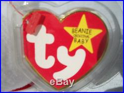 VERY Rare Valentino Ty Beanie Baby NWT Brown Nose Mispelled 2x Tag PVC -THE ONE