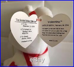 VERY Rare Vintage Valentino Ty Beanie Baby - NWT - Mispelled Tag and PVC