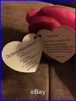 Valentina Retired Ty Beanie Baby With Errors (Rare)