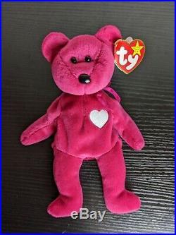 Valentina TY Beanie Baby Bear Rare With Errors / Ear Tag 1998 Tush Tag 1999