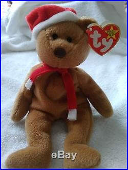 0d64cc14ff6 Very RARE 1997 Holiday Teddy 4200 Ty Beanie Baby Tag Error   PVC Pellets- Retired