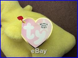 Very Rare Beanie Baby Quackers Duck Pink Tag White Star Error PVC Pellets 1993